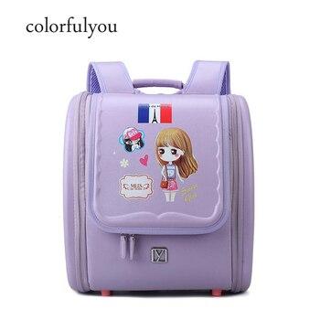 2d99aa518ce3 Детский ортопедический школьный рюкзак с милым рисунком для девочек,  школьные сумки для девочек-подростков, легкая японская сумка для книг .