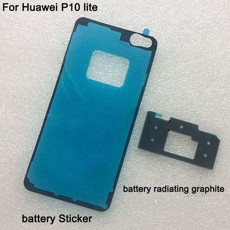 3PCS For <font><b>Huawei</b></font> P10 Lite <font><b>Battery</b></font> cover case 3M Glue Double Sided Adhesive Sticker Tape For <font><b>Huawei</b></font> <font><b>P10Lite</b></font> graphite radiating image