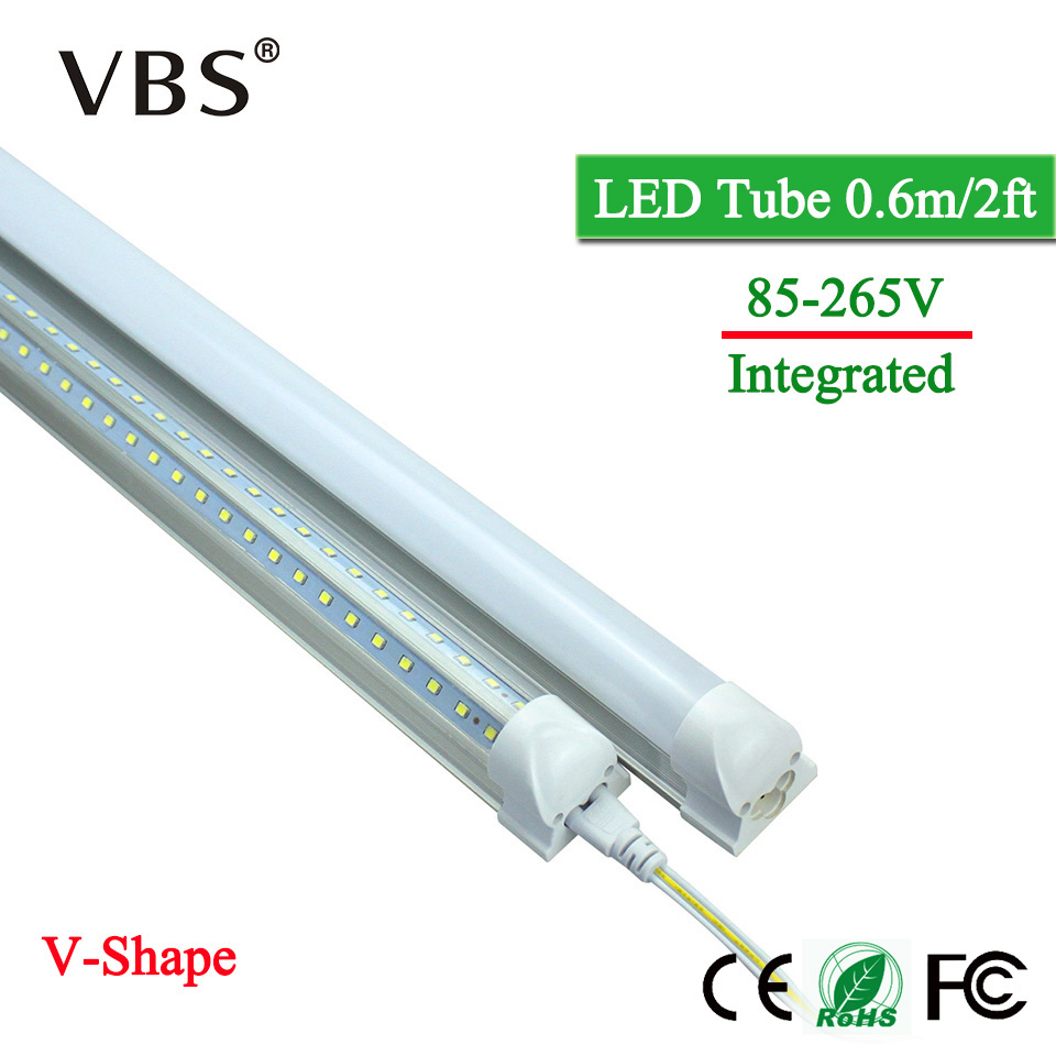 купить Energy Saving T8 Integrated Led Tube Lamp 220V 2000lm LED Tube Bulbs 20W 96Leds Led Wall Lamp V-Shape Led Fluorescent Light 20W по цене 584.1 рублей