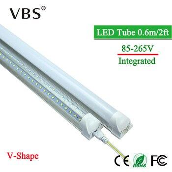 省エネ T8 統合 led チューブランプ 220 v 2000lm led チューブ電球 20 ワット 96 led led ウォールランプ v 字型 led 蛍光灯 20 ワット