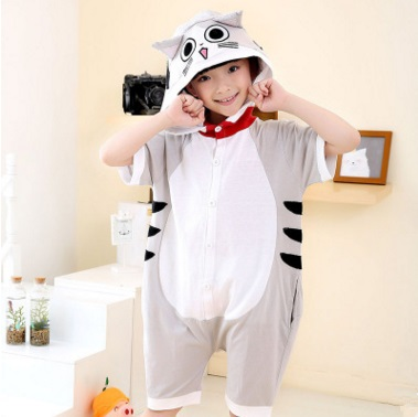 Summer cartoon animal in the pajamas short-sleeved male cotton girl pure lovely monkey, cheese set home