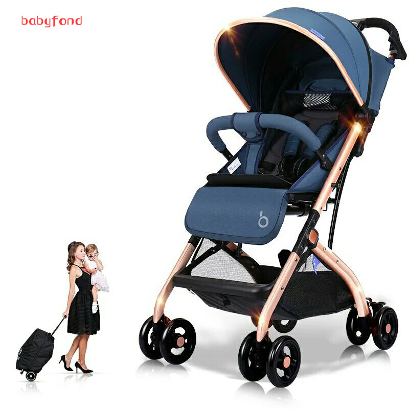 HK free! Travel baby stroller boarding pram Super light brand baby strollers  folding four wheels bebe carriage