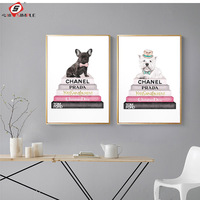 Простой современная мода собака холст картины Vogue плакаты принты Nordic стены книги по искусству фотографии для гостиная домашний Декор без рамк