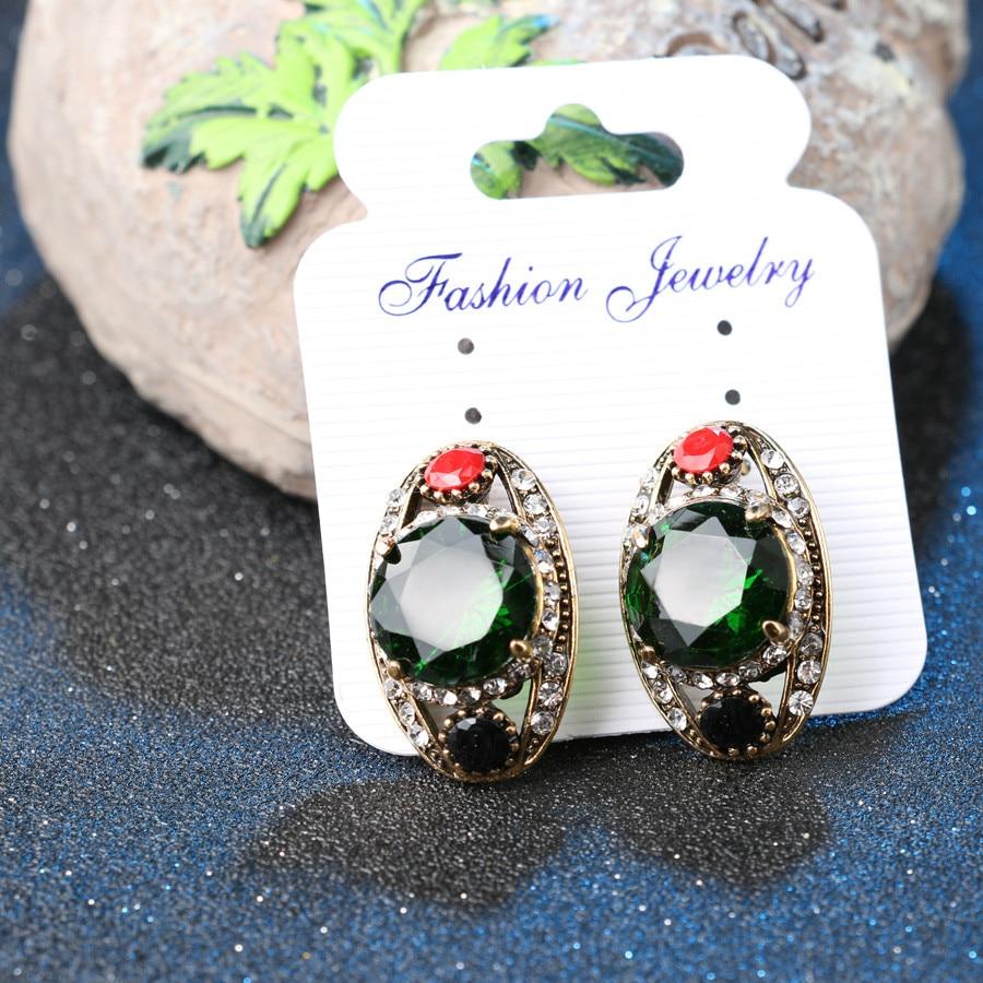 Kualitas tinggi 2015 Mode Warna Emas Bridesmaid Hijau Jewelry Set 2 - Perhiasan fashion - Foto 4