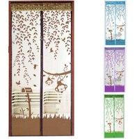 4 Couleurs Magnétique Rideaux Moustique Net sur la Porte Fenêtre Mesh avec Aimants Insectes Écran