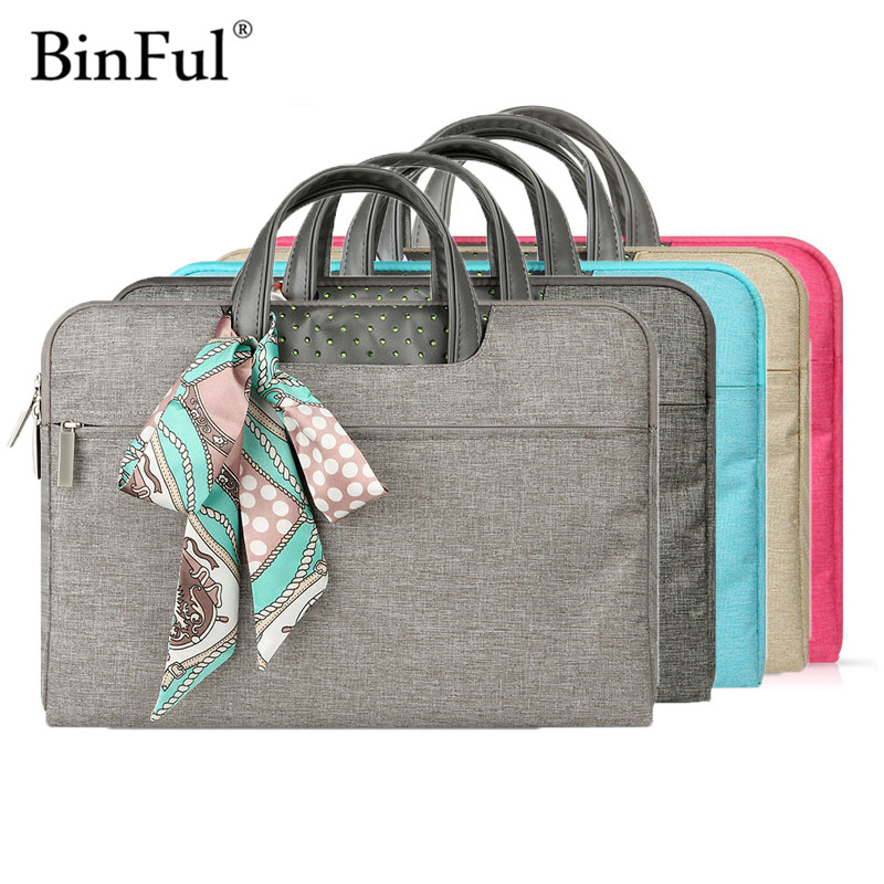 Binful Notebook Bag 11 12 13.3 14 15.4 15.6 Waterproof Nylon Laptop Messenger Bag for Dell 14 Laptop Bag for Macbook Pro 13 Case