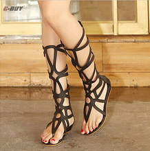 knee high sandals shoes women 2016 fashion boots sandal woman sexy summer gladiator