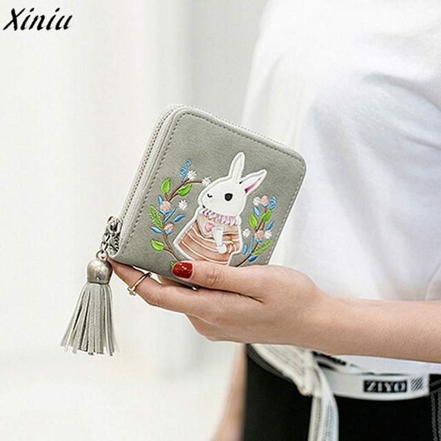 fc396b8060002 Mini portfel kobiet torebka skórzana śliczne dziewczyny mały cienki portfel  posiadacz karty monety portmonetka zapinana na