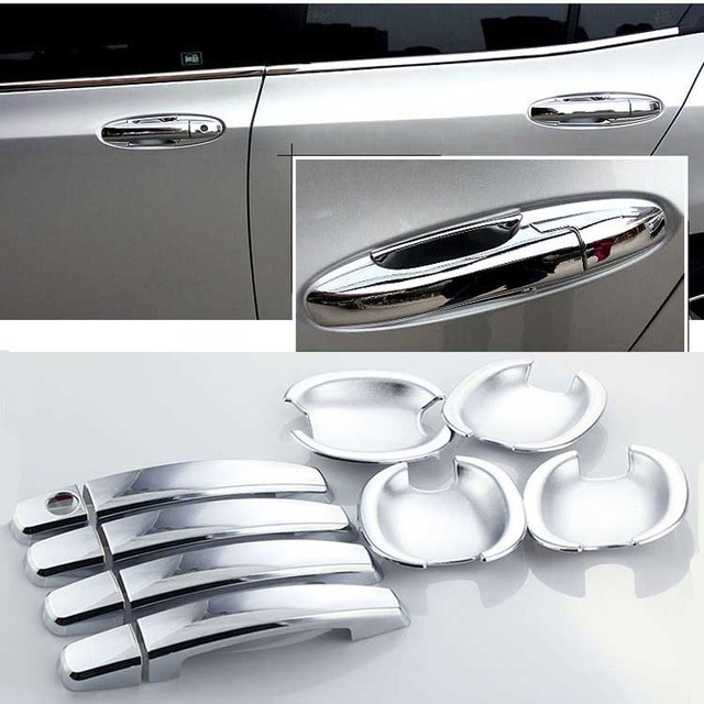 For Honda City 2008 2014 Car Chrome Door Bowl Cover Stickers Interior  Decoration Sequins Brand