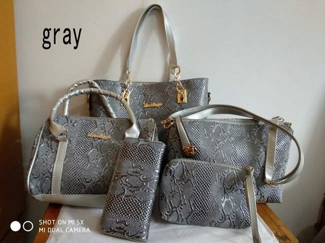 placeholder Women Leather Handbag Messenger Composite Bags 5 Sets Ladies  Designer Handbags Famous Brands Fashion Bag For 4686519301d8a
