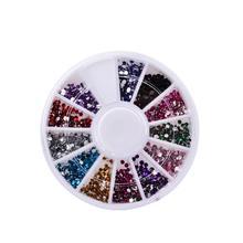 12 цветов/коробка акриловые хрустальные стразы украшения ногтей