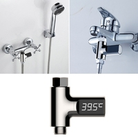 LED Digital Shower Thermometer Battery Free Real Time Water Temperature Monitor L15