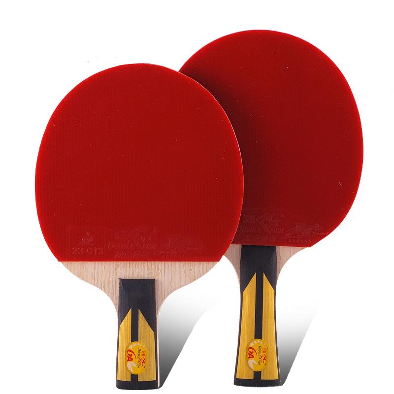 Ikan Double Original 6stars 6A raket tenis meja racquet bat sports - Raket