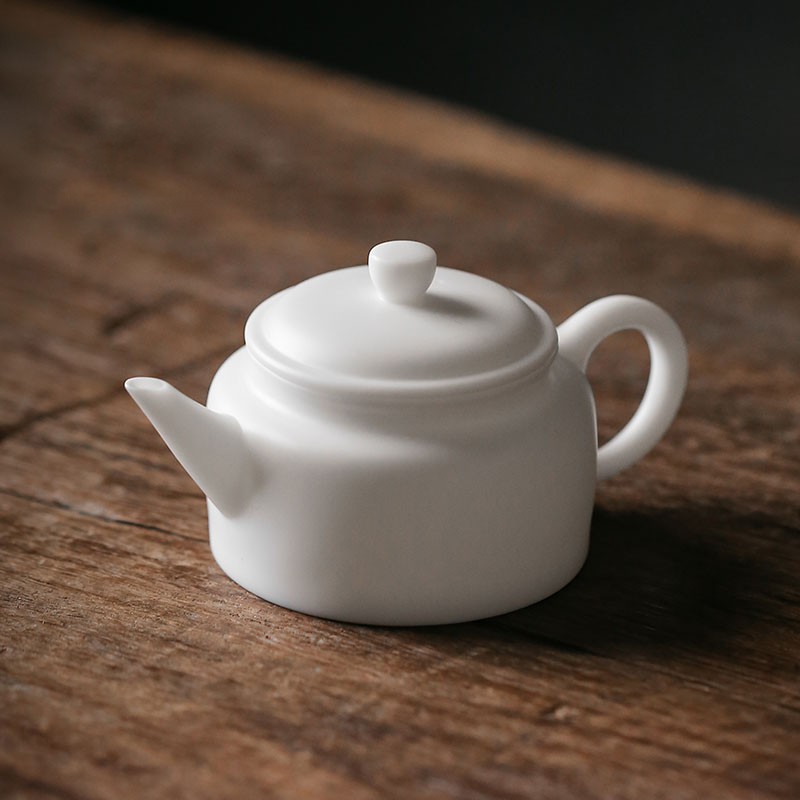 TANGPIN Dehua ceramic teapot handmade white pot chinese kung fu tea pot drinkwareTANGPIN Dehua ceramic teapot handmade white pot chinese kung fu tea pot drinkware