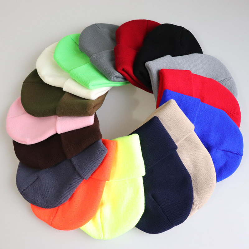 2019 Women Men Hat Solid Knitted Beanies Winter Candy Colors Hats Ladies Unisex Bone Acrylic Spring Autumn Warm Skull Cap Hot