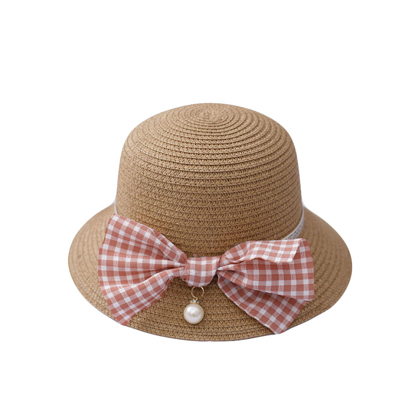 Cute Girls Straw Hat Sun Hat +Should Bag Handbag 2pcs Sets For Tour Summer Kid Princess Bow Beach Hats For Party Outdoor