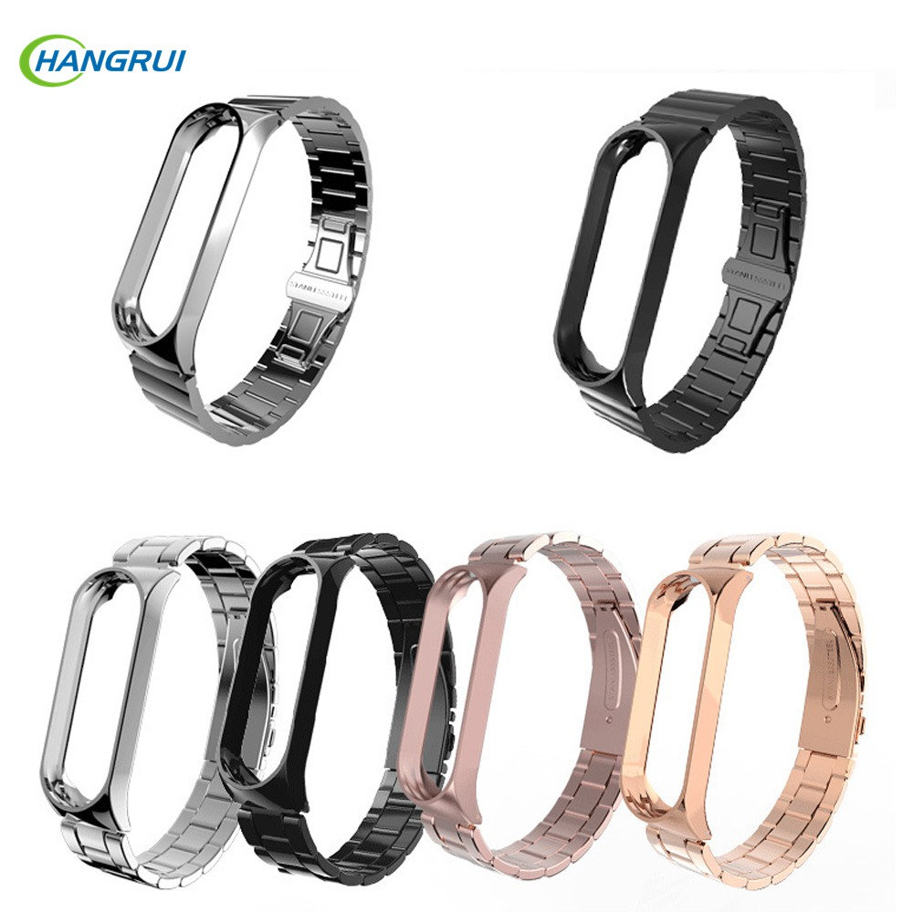 For Mi Band 4 replacement Metal Strap Wrist Strap Stainless Steel Bracelet Wristbands For Xiaomi Mi Band 4 Strap Accessories
