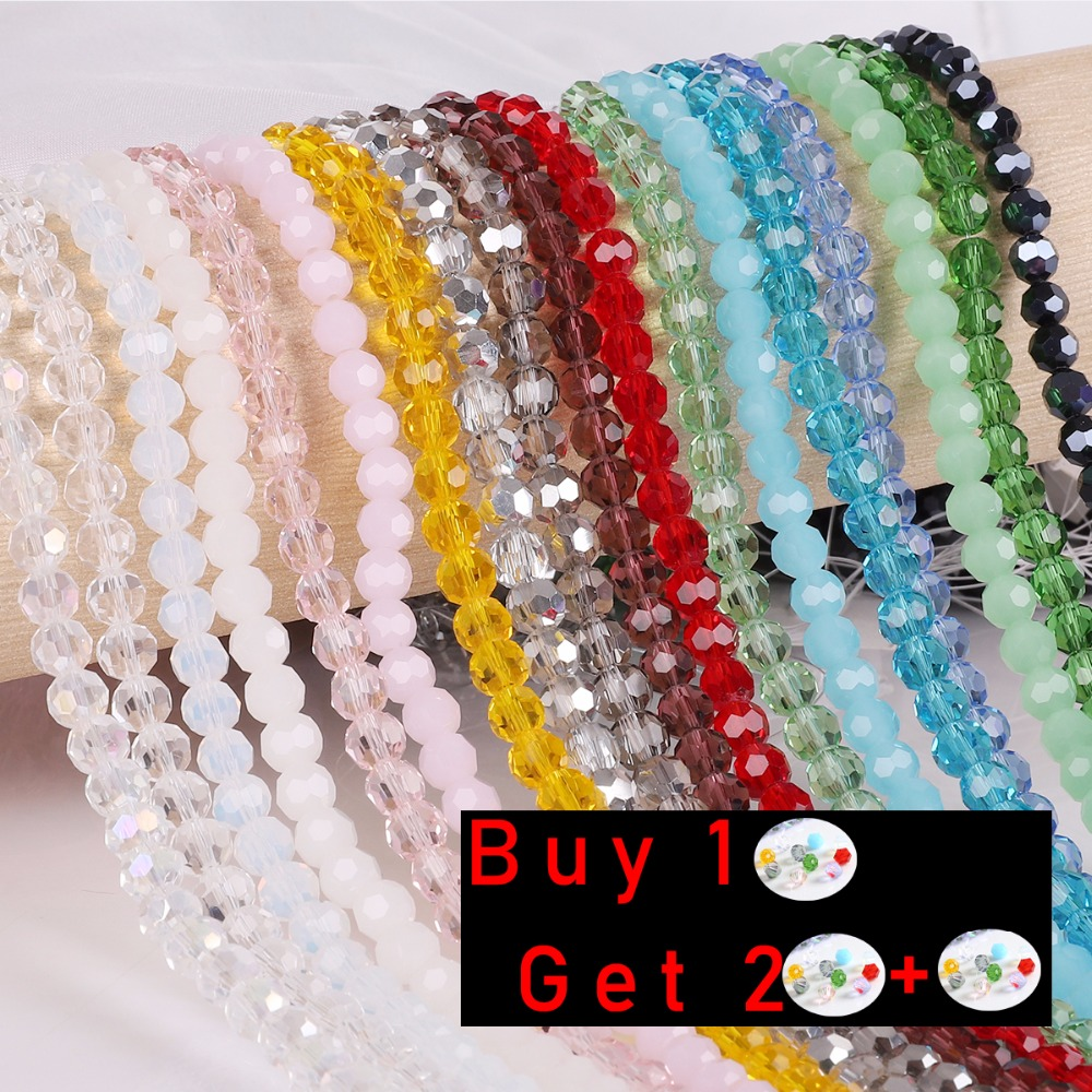 Glass Beads Bracelet Bicone Crystal Faceted Jewelry-Making Colorful And Buy-1 1-Free