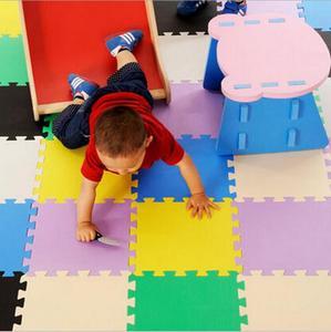 Детские EVA пены Блокировка Упражнения Тренажерный зал пол играть коврики Защитная плитка пол ковры 30X30cm 10 шт./лот,