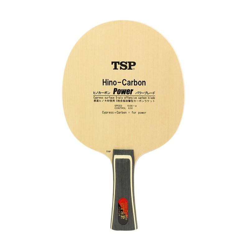 TSP Hino-Carbone Puissance (Li de Jiawei) Tennis De Table Lame (3 + 2 Carbone, hinoki Surface) Raquette Ping-Pong Bat Paddle