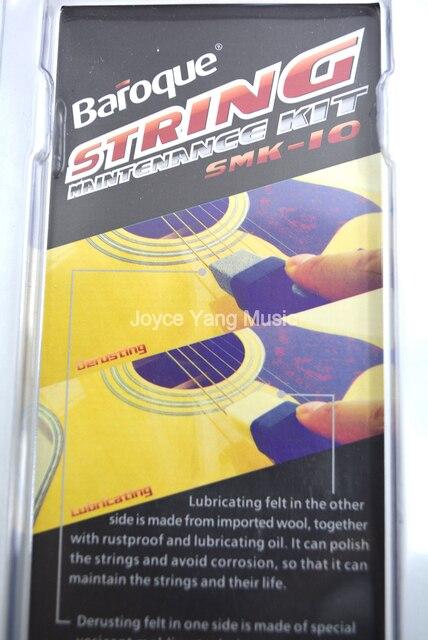 Cordes de guitare baroques enlever la saleté de rouille éviter la Corrosion Kit de nettoyage de stylo outils pour cordes de guitare/basse plus longue durée de vie