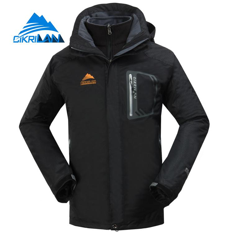 New Arrive 3in1 Windproof Waterproof Camping Hiking Winter Outdoor Jacket Men Skiing Climbing Coat Trekking Jaqueta Masculina new mens 3in1 outdoor fleece lining hooded waterproof winter jacket men windbreaker coat ski hiking camping jaqueta masculina