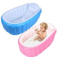0 3 Years Baby Inflatable Bathtub PVC Thick Portable Bathing Bath Tub for Kid Toddler Newborn 98 x 64 x 28cm TB Sale