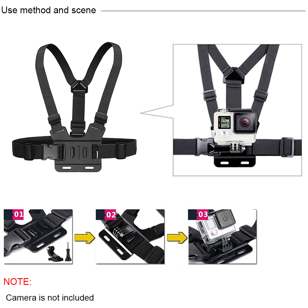 Image 3 - Action Camera Accessories Kits For Gopro Hero 7 6 5 Case Buoyancy Rod Straps Mounts For Gopro Here 7 4 Session Accessories Yi 4K-in Sports Camcorder Cases from Consumer Electronics