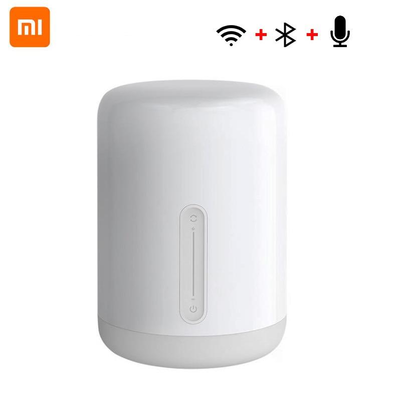 Xiaomi Mijia veilleuse 2 Smart Table LED lampe de chevet coloré 400 Lumens Bluetooth WiFi contrôle tactile pour Apple HomeKit Siri