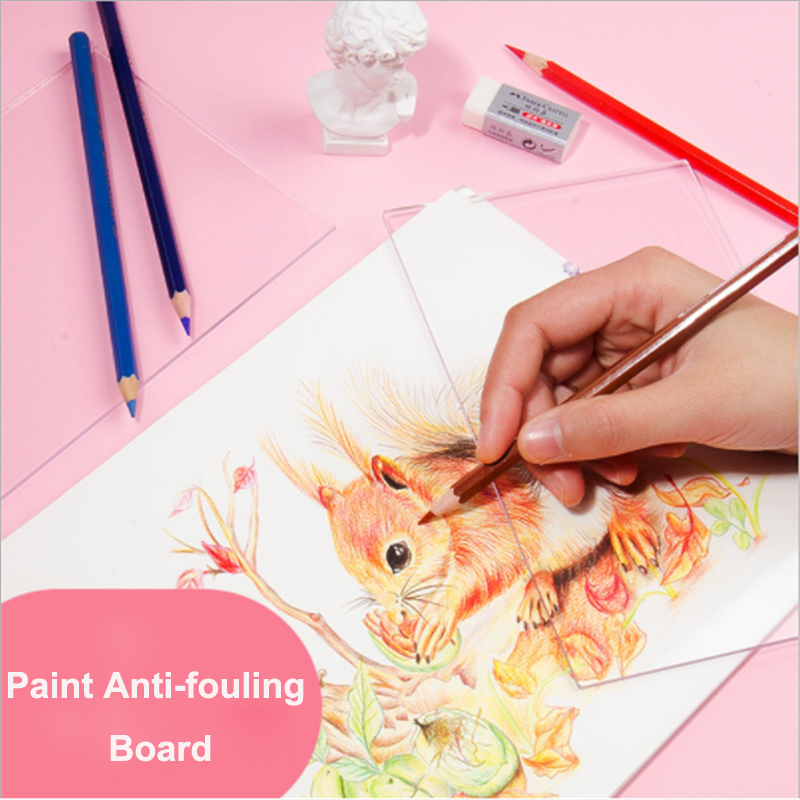 New Painting Antifouling board Transparent Acrylic Drawing Dirty Proof Pad for Students Artist Art Supplies S/L Art Sets Education & Office Supplies - title=