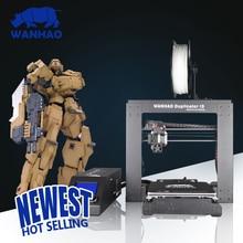 Дешевые Высокого Качества WANHAO 3D Принтер FDM 3D Принтер I3 V2.1 DIY Prusa i3 3d-принтер Комплект Подогревом Кровать Бесплатно подарок