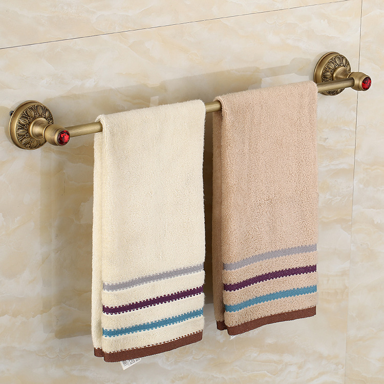 Antique Carving Brass Towel Rack Towel Bar Wall Mounted Red Crystal Towel Holder Nail Bathroom Accessories teamyo n2 computer stereo gaming headphones earphones for mobile phone ps4 xbox pc gamer headphone with mic headset earbuds
