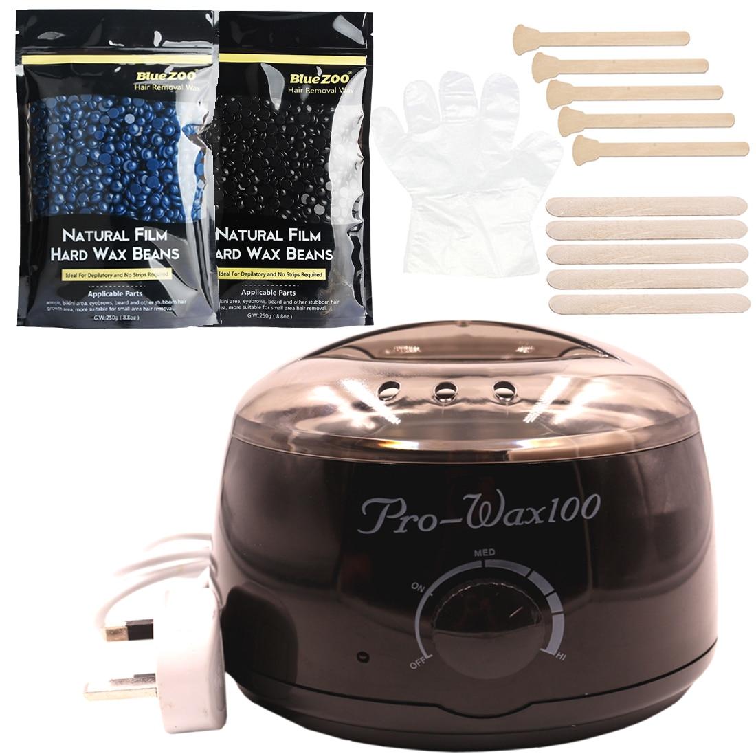 Depilatory Wax Warmer Hard Wax Beans Hair Removal Black Wax Machine