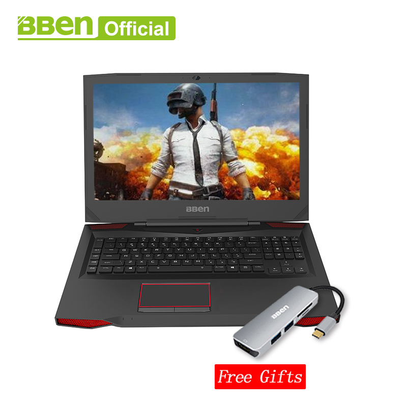 Bben G17 ordinateur portable De Jeu NVIDIA GTX1060 GDDR5 17.3 pro windows10 intel 7th gen. i7-7700HQ DDR4 8 gb/16 gb/32 gb RAM M.2 SSD