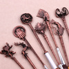 5 Colors Movie Game of Thrones Makeup Brush Set Soft Synthetic Collection Kit with Powder Contour Eyeshadow Eyebrow Lips Brushes 5