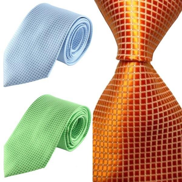 Chic Hot Classic Checks Jacquard Seda tejida Hombres Corbata Corbata - Accesorios para la ropa - foto 5