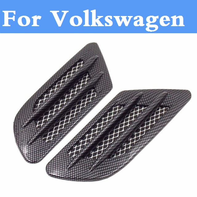 Carbon fiber Shark Gills Shape Intake Grille Wind Net Sticker For Volkswagen Beetle Bora Eos Fox Golf GTI Golf Plus Golf R коврики в салон volkswagen golf plus 04 полиуретан
