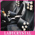 Ladycrystal High Quality Fashion Flowers Obsidian Trunk Waist Pillow Neck Pillow Car Home Decoration Pillow Women Girls Ladies