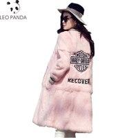 2019 New High Quality Real Rabbit Fur Jacket Winter Long Fur Coats Women Natural Rabbit Fur Coat Outerwear