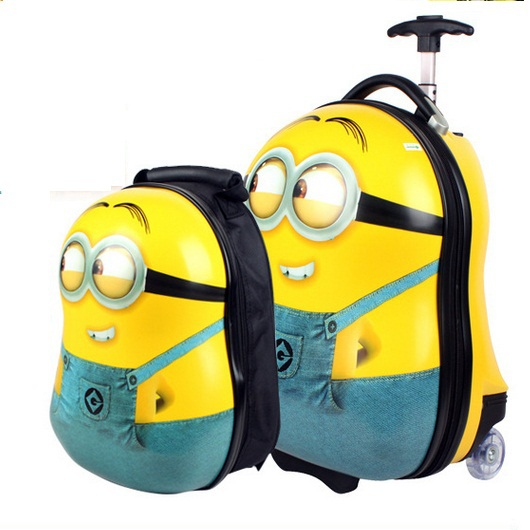 Hot sale children cartoon suitcase and backpack for children or ...