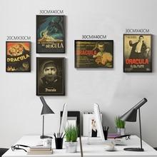 Póster vintage clásico de película de terror de Drácula, decoración del hogar, póster de pared Retro, papel tapiz de alta calidad con imagen impresa para el hogar