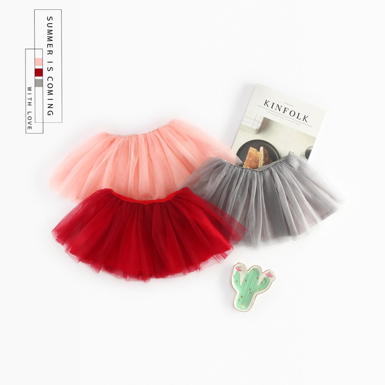 New Baby Girls Tutu Skirts Kids Elastic Waist Pettiskirt Girl Princess Tulle Mesh Skirt Colorful Mini Skirts Children Clothing