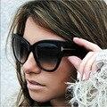 12 unids/lote Negrita Templo Fashion Wood Grain Mujeres Gradiente Lente gafas de SOL Del Ojo de Gato de La Vendimia 96894 FrameOculos Acetato Gafas De Sol