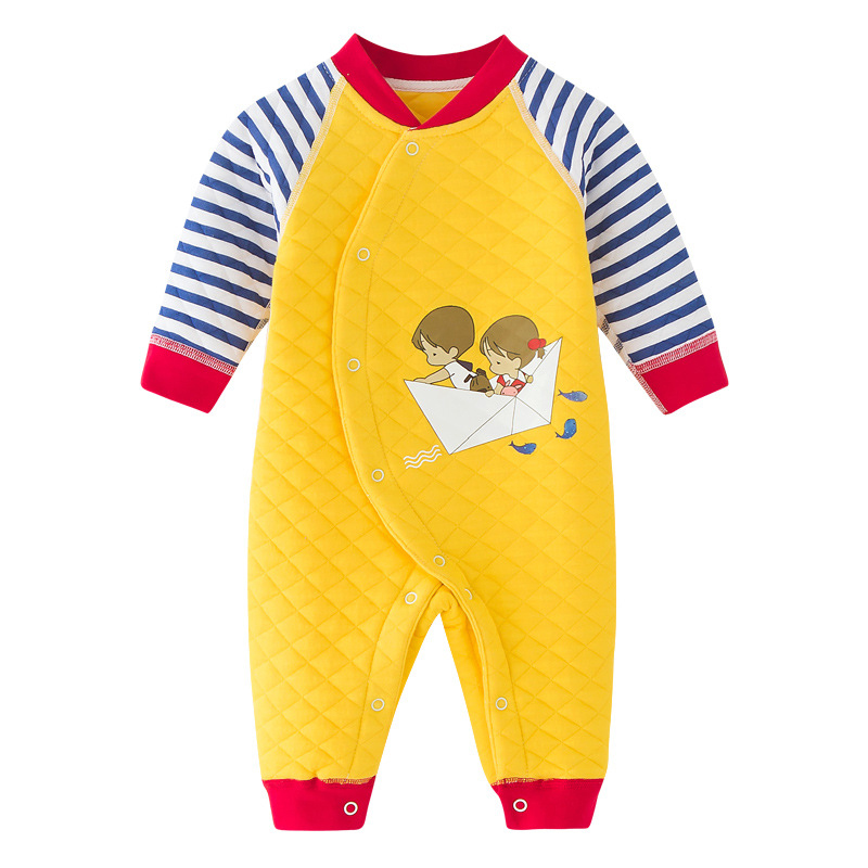 Newborn Baby Boys Auturm Winter Rompers Soft Romper Warm Combed Cotton Jumpsuit for Kids Costumes