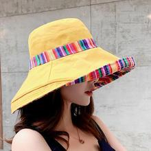 Fashion Bucket Hat Lady Fishing Hats For Women Double sided Pattern HipHop Flat Cap Fisherman Hat Cotton Casual Outdoor Sunshade chic rose and leaf pattern flat top black bucket hat for women