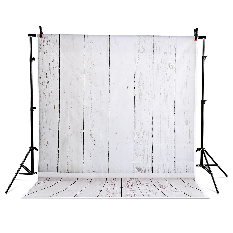 Photography Backdrop Photo Studio Grey Background Wood Wall Vinyl 5x7 FT christmas background vinyl cosmic blue star wood new born photo studio xmas backdrop photography
