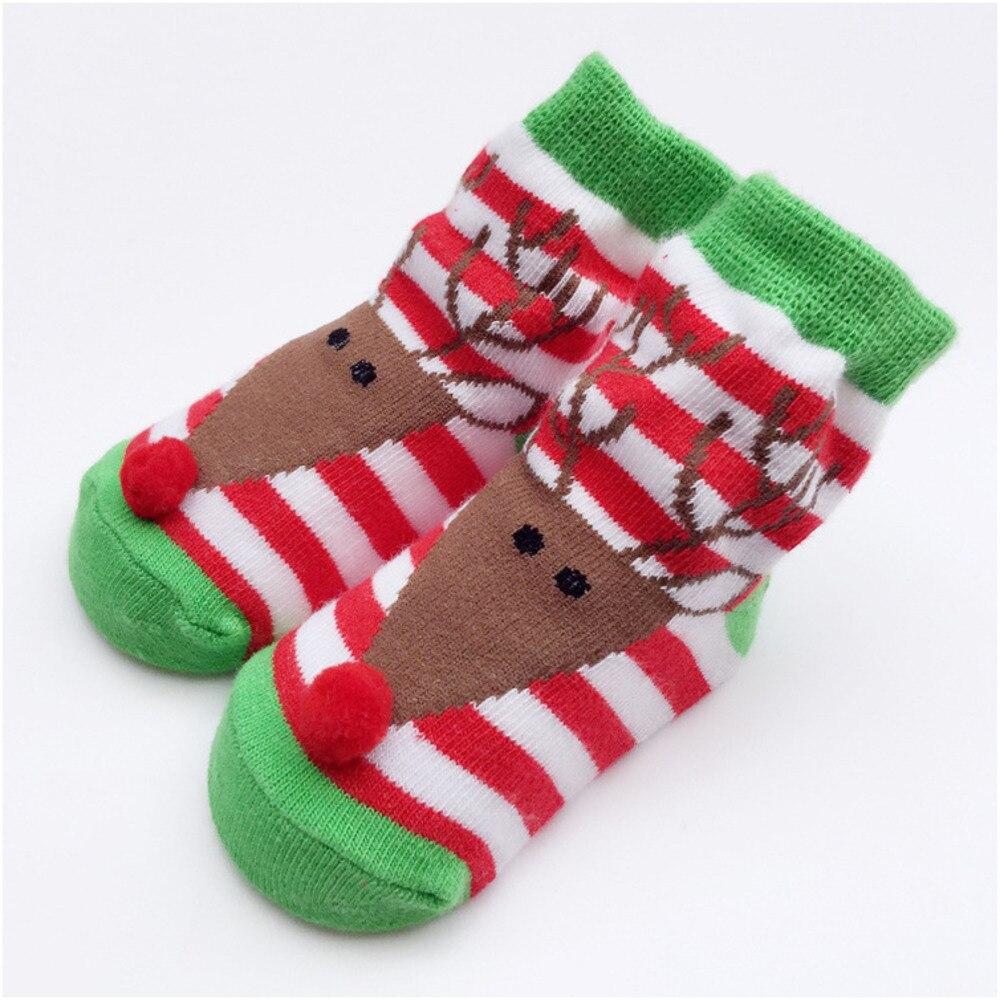 FDWERYNH Christmas Baby Socks Winter Pure Cotton Children Socks Stripe Jacquard Weave Animal Newborn Baby Socks Gift Dress