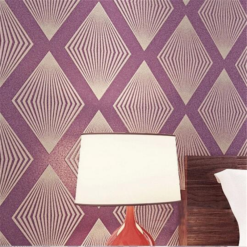 beibehang Non-woven Wallpaper Damask 3D Wall paper Design diamond pattern wall covering Prismatic purple papel de parede living beibehang non woven wallpaper damask 3d wall paper design diamond pattern wall covering prismatic purple papel de parede living