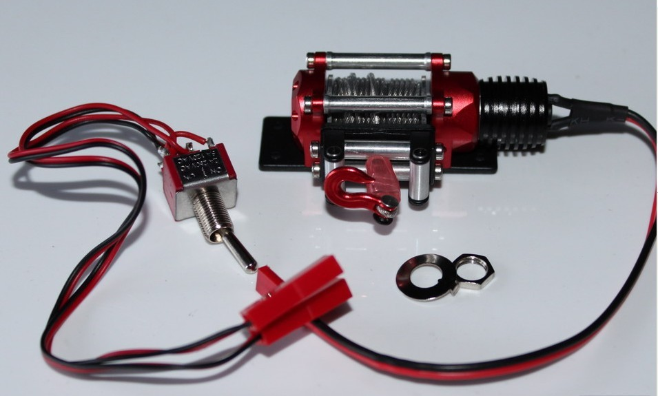 Billet Machined Auto Winch for 1/10th Scale RC Crawler SCX10 D90 CC01 meziere wp101b sbc billet elec w p
