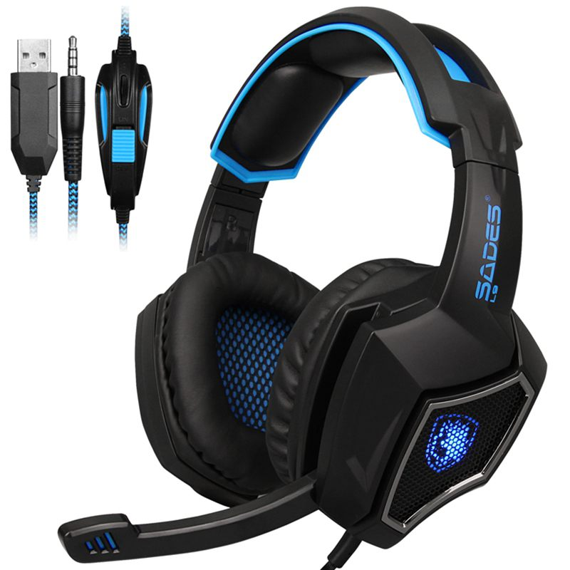 HFES New SADES L9 PS4 gaming Headset computer headphones stereo with mic  3 5mm jack for PC Laptop Mac Xbox one Mobile Phone